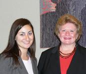 Stephanie Praus (left) with Senator Debbie Stabenow from Michigan.