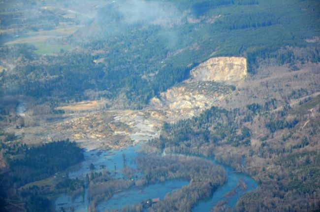 Image of the Oso landslide, Washington state, taken from the air. Image credit: U.S. Geological Survey