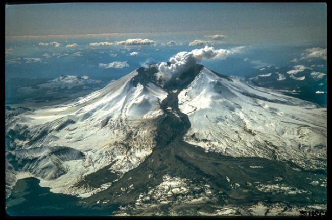 How many active volcanoes are there in the United States