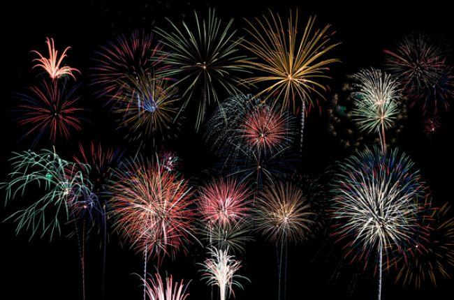 Fireworks get their different colors from different chemical compounds, each of which comes from certain mineral resources. Image Credit: Ronald Carlson. http://www.publicdomainpictures.net/view-image.php?image=90675&picture=fireworks