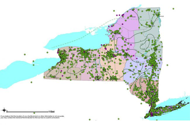 Picture Of New York Map.Interactive Map Of Stormwater Information In New York State