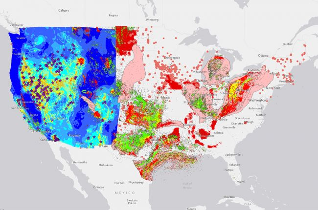 "Screenshot of the USGS ""Energy In Our Nation"" interactive map"