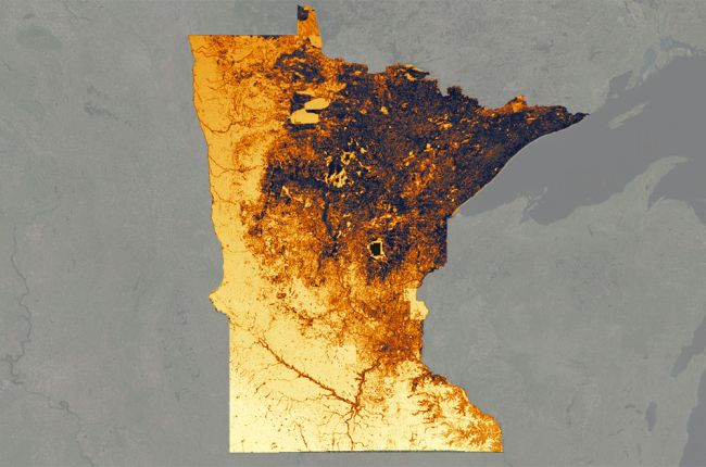 Screenshot of the solar suitability app from the Minnesota Department of Commerce