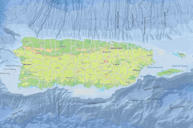 Screenshot of the interactive map of Puerto Rico