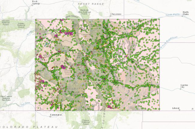 Interactive map of mines in Colorado | American Geosciences Institute