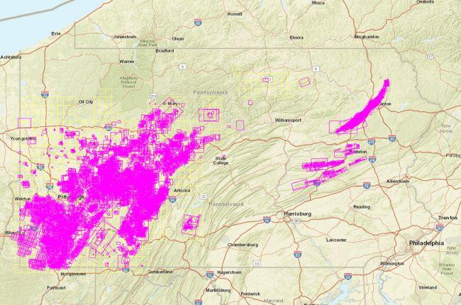 Interactive atlas of historical coal mine maps in Pennsylvania