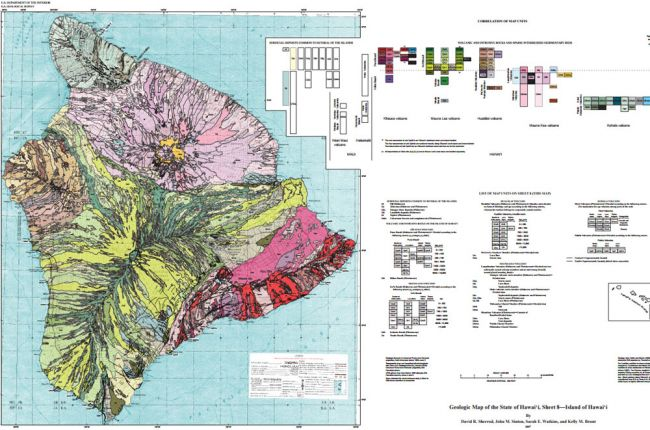 Screenshot of geologic map of Hawaii
