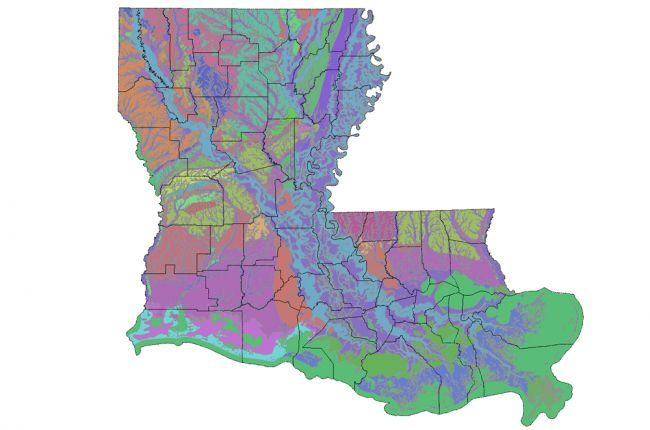 Interactive map of Louisiana\'s geology and water resources ...