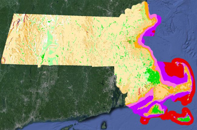 Interactive map of Massachusetts geology and natural resources