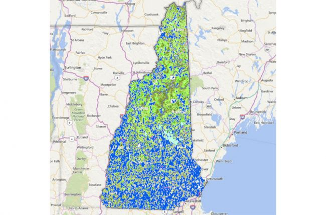 Interactive map of environmental information in New Hampshire ...