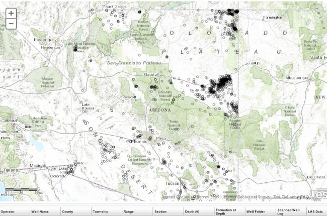 Interactive Map Of Arizona.Interactive Map Of Oil And Gas Wells In Arizona American