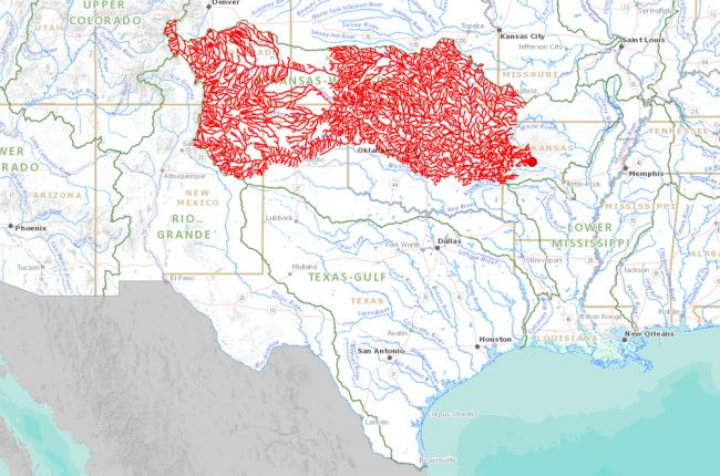 Interactive map of streams and rivers in the United States ...