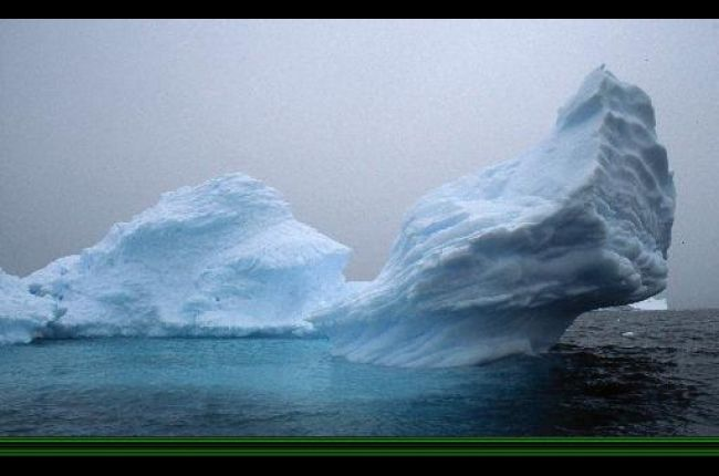 Enterprise ice attached to the Antarctic Peninsula