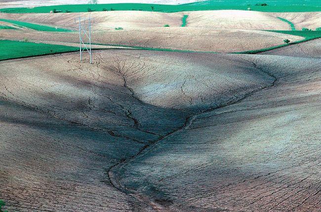 Severe sheet and rill erosion in Iowa.