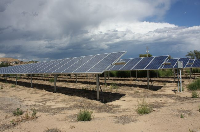 This image is of solar panels in Colorado.