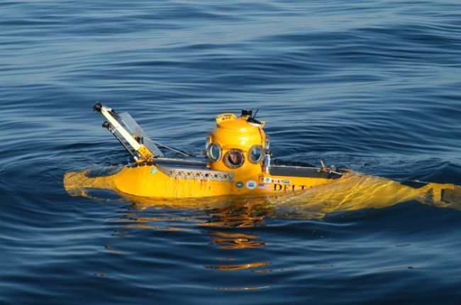 Delta submersible seen on surface in waters off Santa Cruz Island. Credit: NOAA/Department of Commerce/Robert Schwemmer