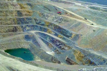 Mountain Pass Rare Earth Mine, California. This mine dominated global rare earth element production from the 1960s to the 1980s. Although it still contains significant reserves, it closed in 2015 due to competition from China. Credit: Dan Cordier, USGS