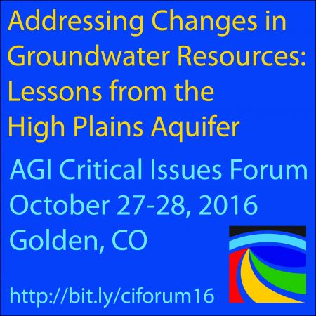 AGI Forum 2016 Groundwater Issues