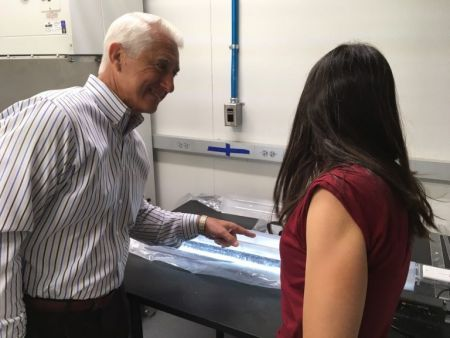 Rep. Reichert joins Dr. Kaspari in her ice core freezer to learn about her work.