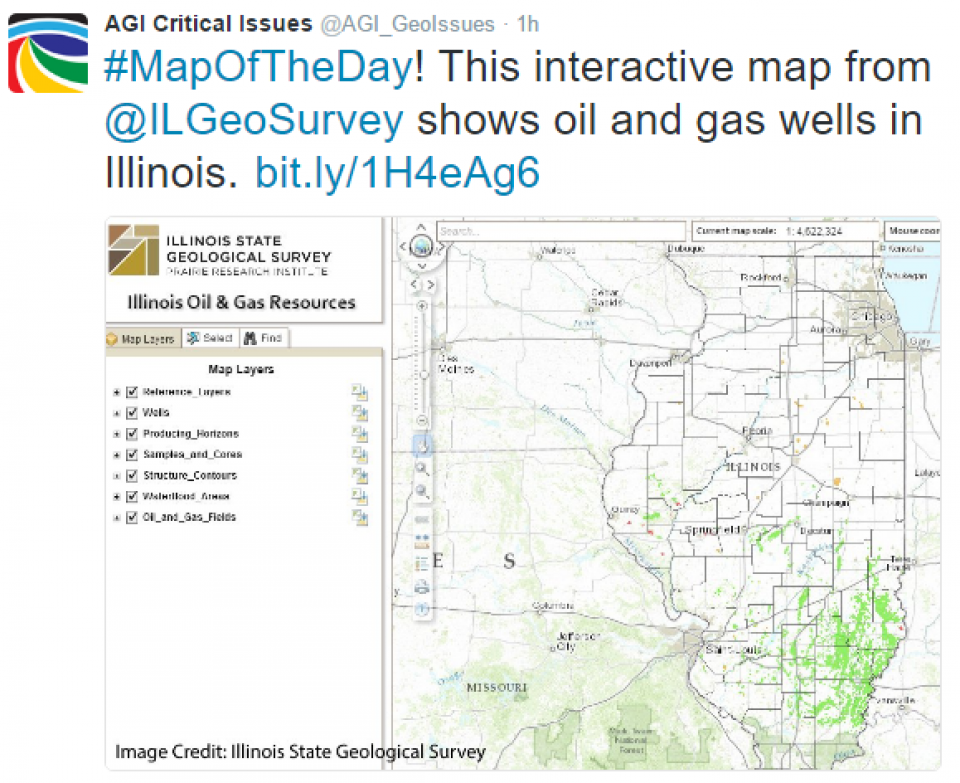 Critical Issues Map Of The Day Oil And Gas Resources In - Illinois state geological survey
