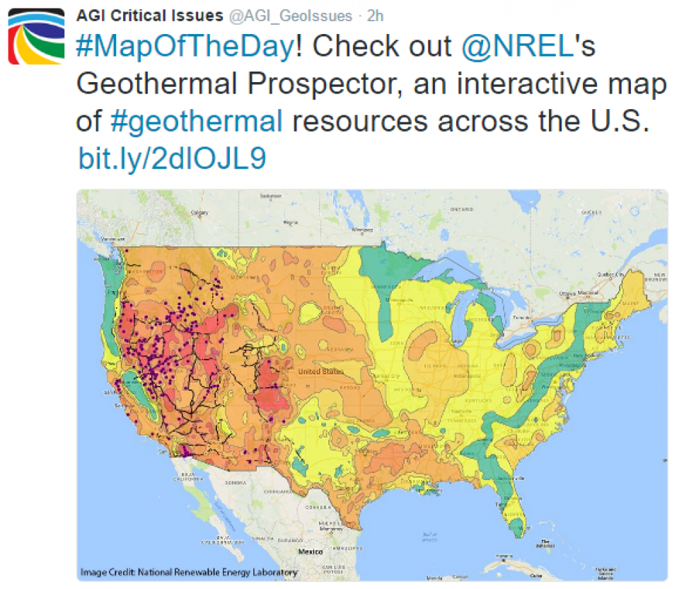 Critical Issues Map Of The Day Geothermal Resources In The Us - Geothermal-map-of-the-us