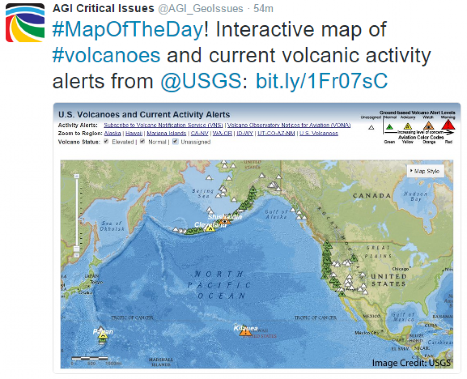 Critical Issues: Map of the Day - Volcanoes and Volcanic ...
