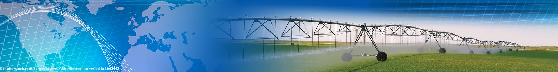 Irrigation equipment. (Background: Copyright Shutterstock.com/Sergey Nivens; right: Copyright Shutterstock.com/Cecilia Lim H M)