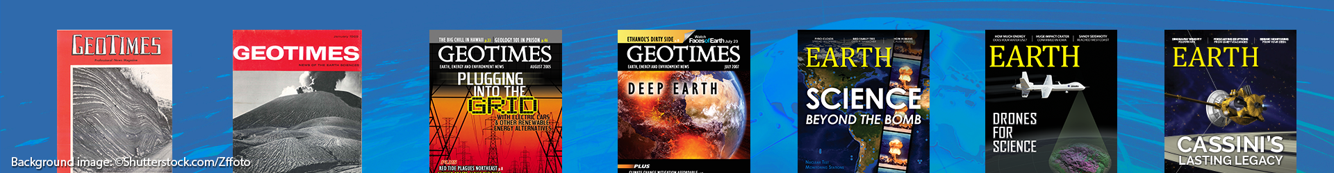 Geotimes and EARTH magazine covers