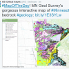 Screenshot of tweet highlighting the MN Geological Survey interactive map of Minnesota bedrock geology. Image Credit: Minnesota Geological Survey