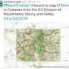 Screenshot of interactive map of mines in Colorado. Image Credit: Colorado Division of Reclamation Mining and Safety