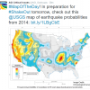 Map of earthquake probabilities across the U.S. Image Credit: U.S. Geological Survey