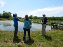 Geoscientists talk with community leaders in Berlin, Maryland