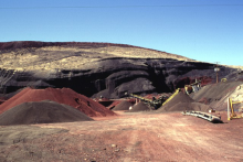 Mining Operation to Produce Road Aggregate, Flowell, Utah. Image Credit:Lee Siebert, Smithsonian Institution.