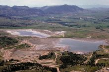 Tailings pond from a gold mine. Image Copyright © Marli Miller, University of Oregon. http://www.earthscienceworld.org/images
