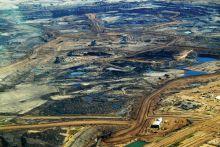 Photograph of tar sands mining, Alberta, Canada