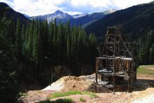 An abandoned mine shaft at The Silver Ledge Mine, Colorado. Image Credit: USGS/Photo by Philip Verplanck