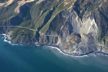 Landslide in Big Sur, California, July 2017. Image credit: U.S. Geological Survey