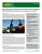 Cover of AGI Factsheet 2017-001 - Recycling as a source of mineral commodities