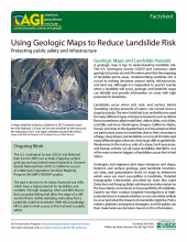 Cover of AGI Factsheet 2018-003--Using Geologic Maps to Reduce Landslide Risk