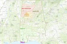 Screenshot of the interactive map of oil and gas resources in Alabama