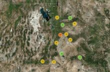 Screenshot of the UGS map of abandoned coal mines in Utah