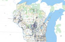 Screenshot of Wisconsin water use map
