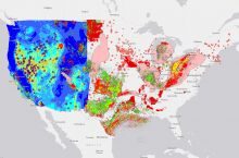 Interactive map of wind farms in the United States American