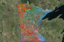 Screenshot of the Minnesota DNR's Watershed Health Assessment Framework interactive map