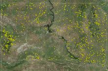 Screenshot of interactive map of water wells in South Dakota