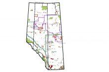 Screenshot of Alberta Energy's map of oil sands information in Alberta