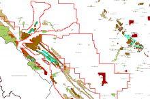 Screenshot Alberta Energy's map of coal resources in Alberta