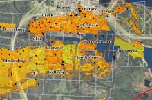 Screenshot of the Minnesota Department of Natural Resources' interactive map of underground mines in Minnesota
