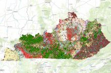 Screenshot of the Kentucky Geological Survey's interactive map
