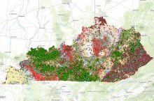 Screenshot of the Kentucky Geological Survey's interactive map